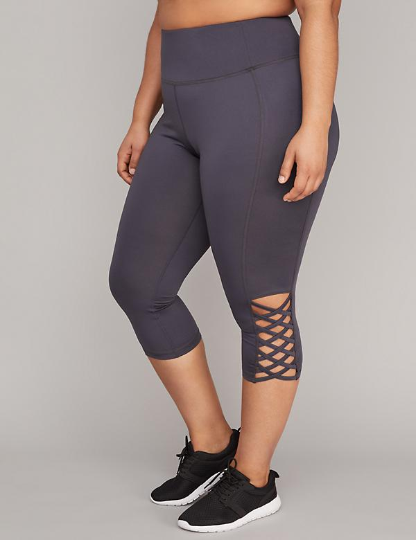 Wicking Capri Legging with Lace-Up Detail