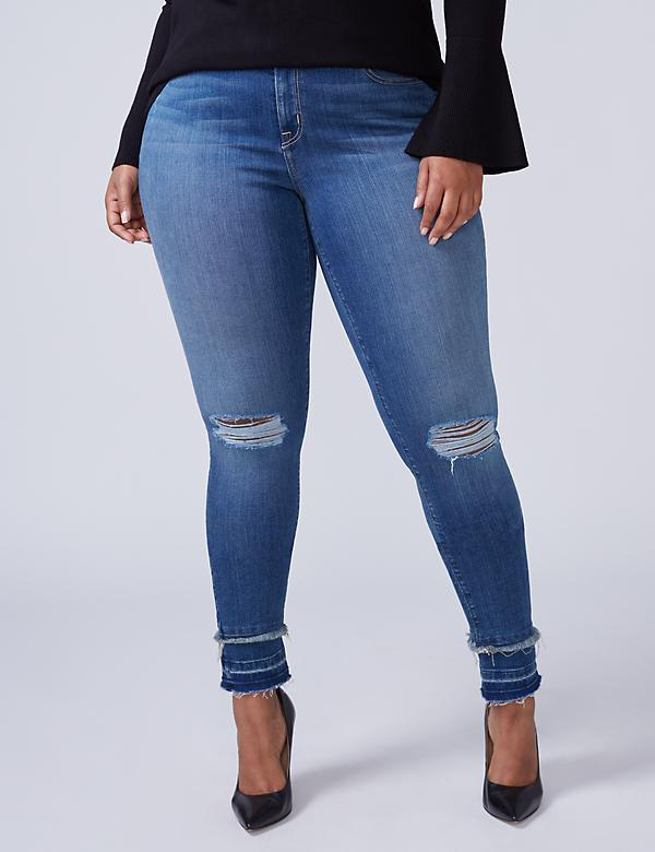 Super Stretch Skinny Jean - Double Released Hem