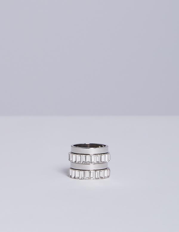 4-Stack Baguette Ring Set