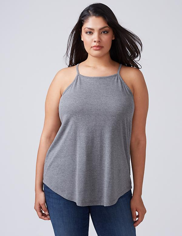 High-Neck Tank with Strappy Back