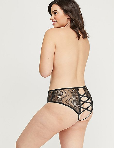Eyelash Lace Open-Back Panty