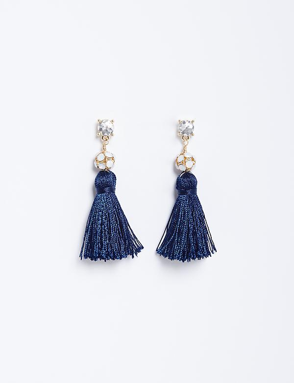 Fireball Tassel Drop Earrings