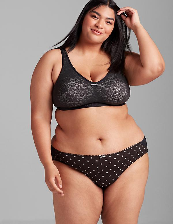 Cotton Lace Unlined No-Wire Bra