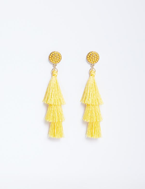 3-Tier Fringe Earrings