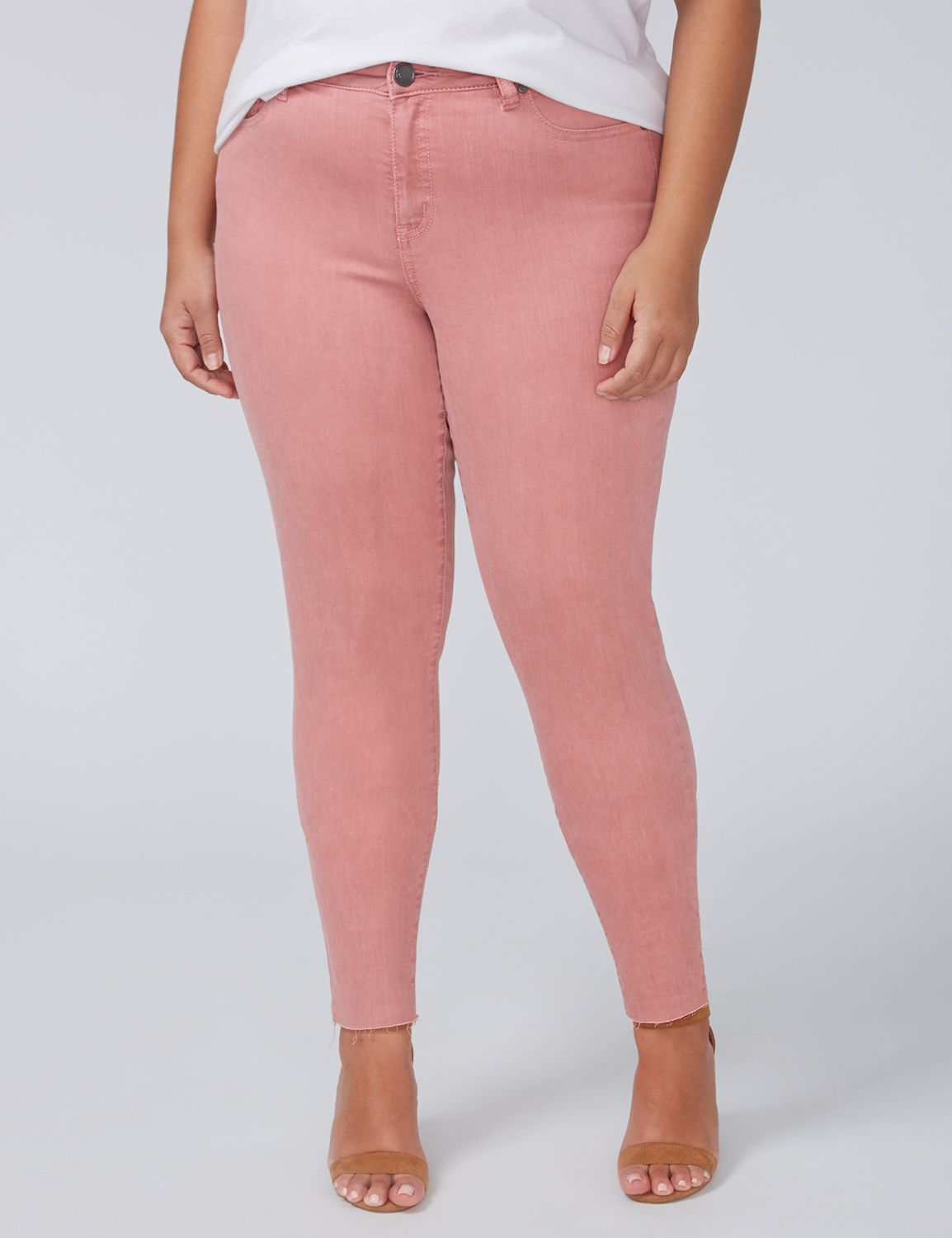 Petite Power Pockets Super Stretch Skinny Ankle Jean - Rose