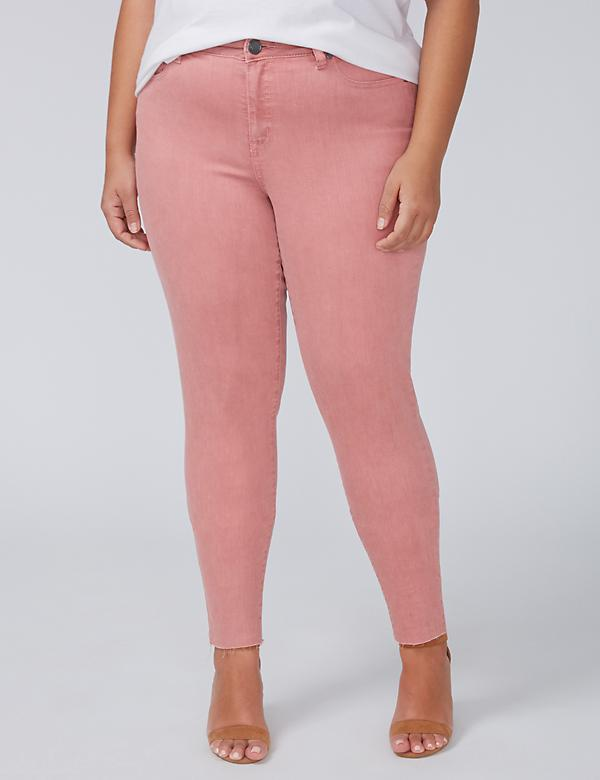Power Pockets Super Stretch Skinny Ankle Jean - Rose