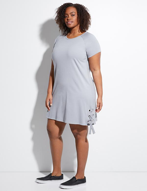 Grommet Lace-Up Active Dress