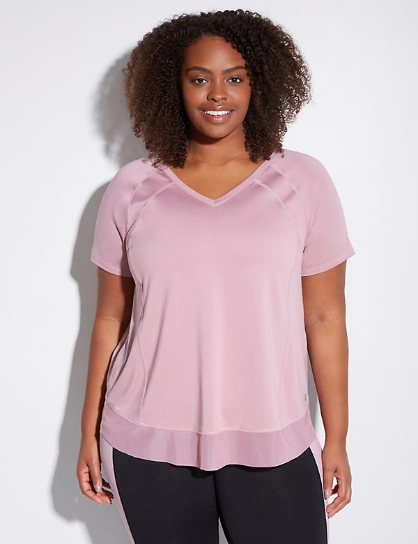 Wicking Active Tee with Envelope Back