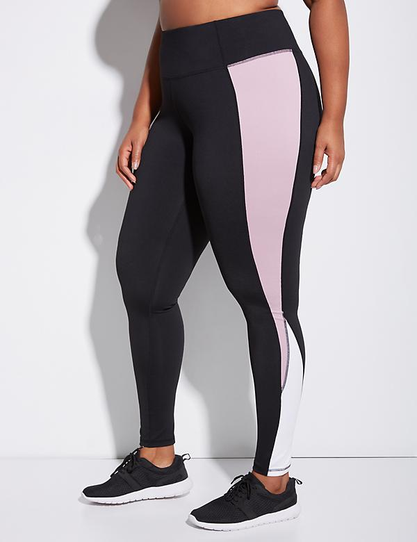 Wicking Active Legging with Double Inset