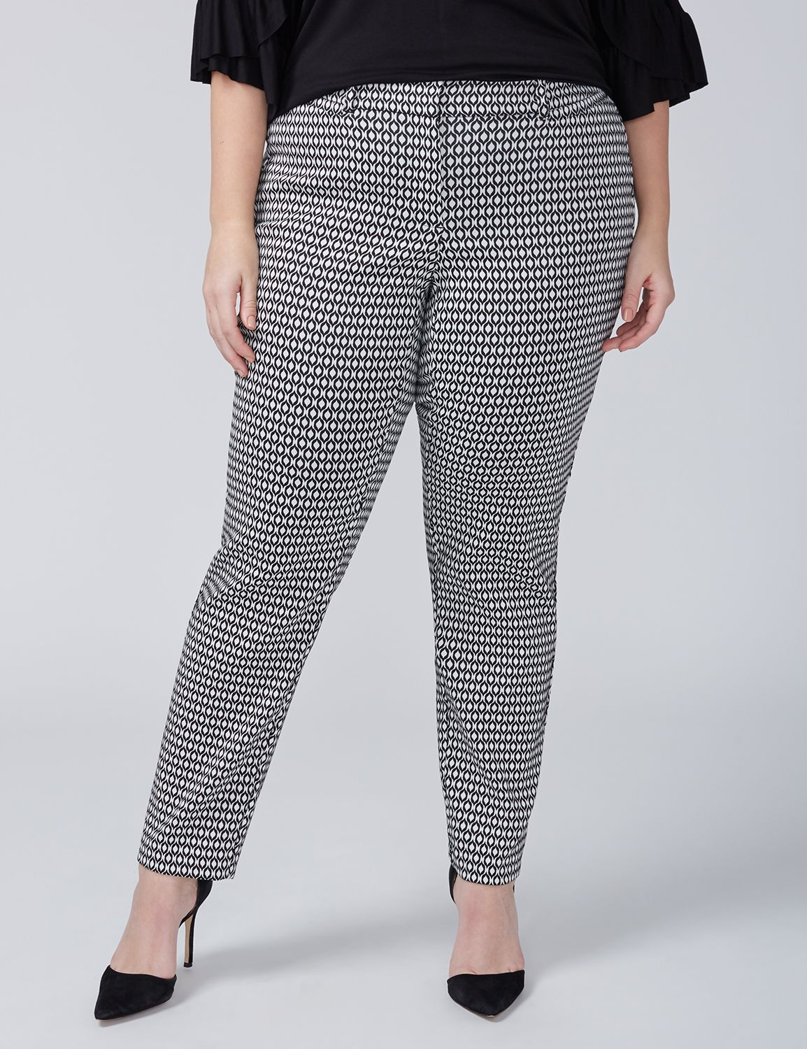 Allie Sexy Stretch Ankle Pant - Print