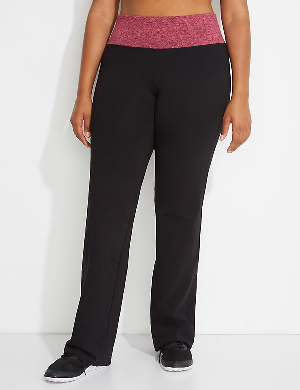 Signature Stretch Active Yoga Pant with Contrast Waistband