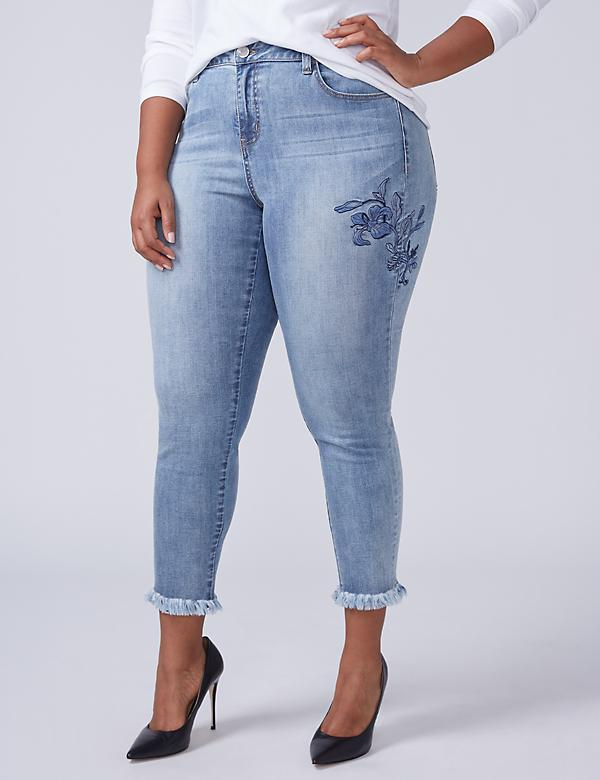 Super Stretch Skinny Jean - Tonal Embroidery