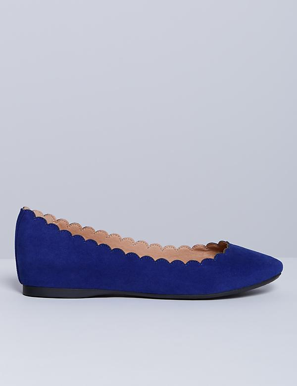 Scalloped Round-Toe Flat