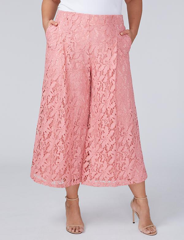 Lace Wide Leg Crop
