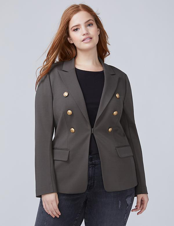 Bryant Blazer - Double-Breasted Ponte