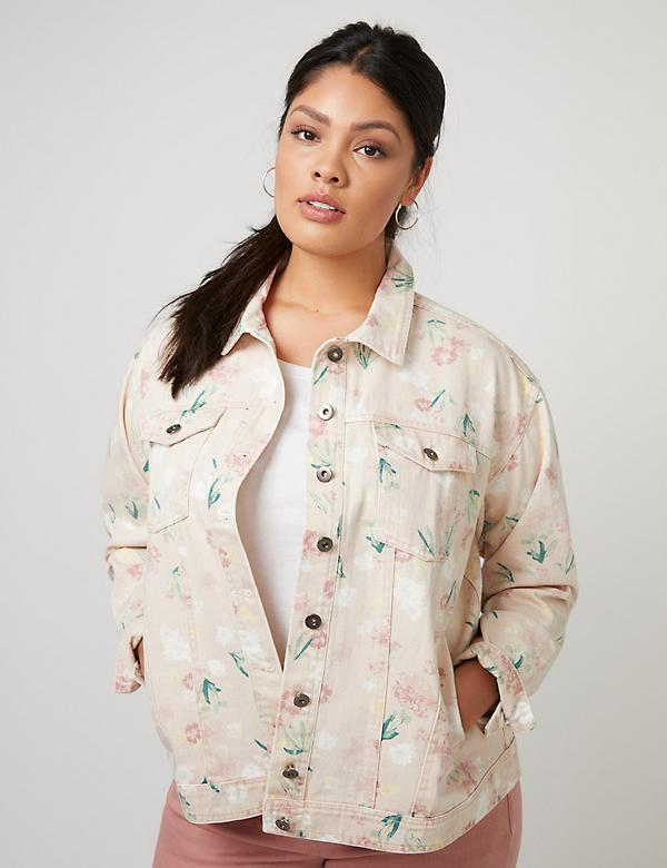 Fast Lane Printed Denim Jacket