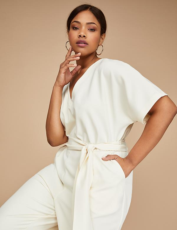 Dolman-Sleeve Jumpsuit