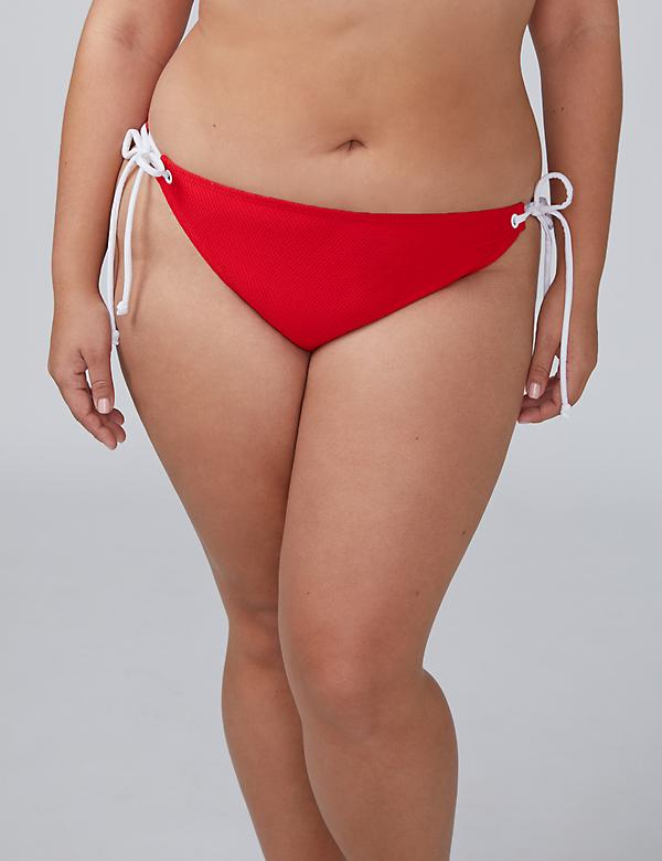 Textured Swim String Bikini Bottom
