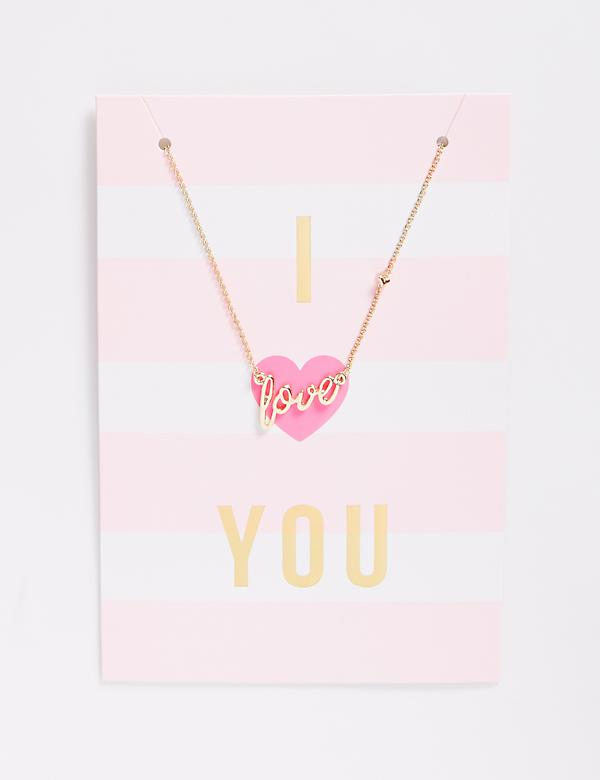 I Heart You Love Necklace