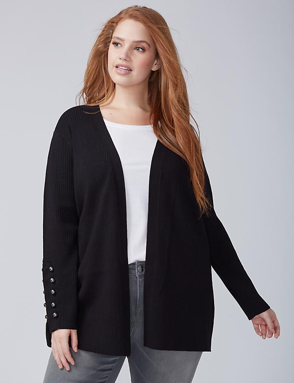Button-Sleeve Overpiece