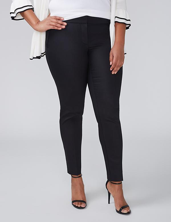 Sophie Double Weave Stretch Ankle Pant