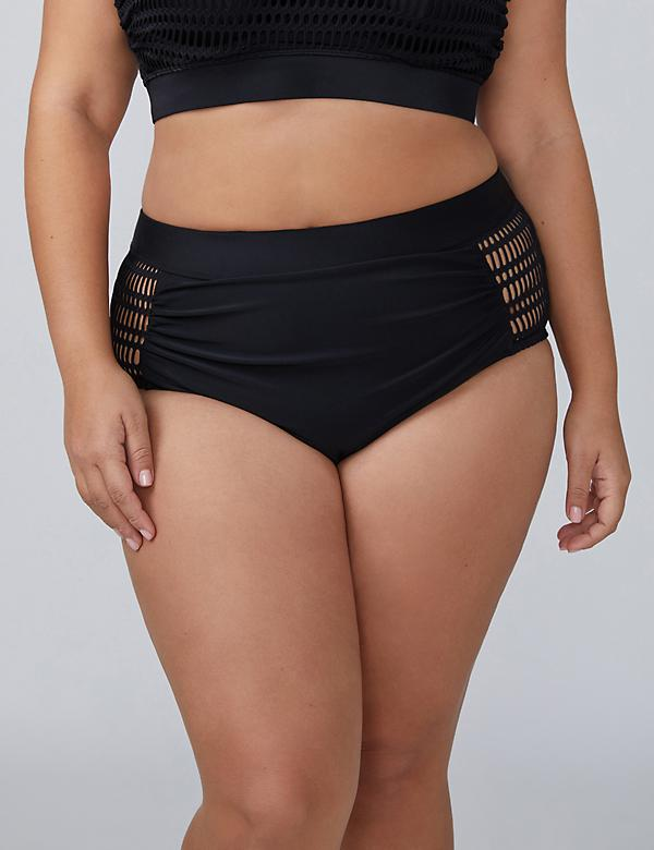 Crochet Mesh High-Waist Swim Brief