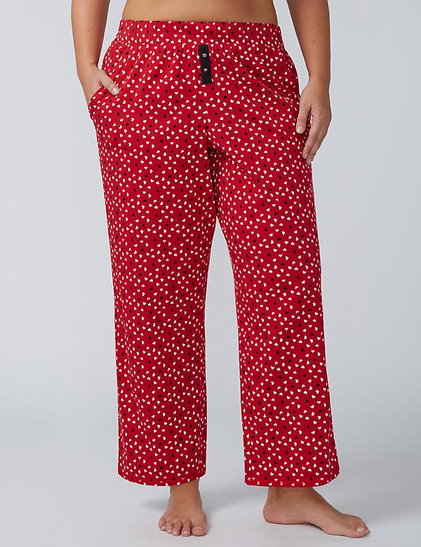 Printed Sleep Pant with Button Detail