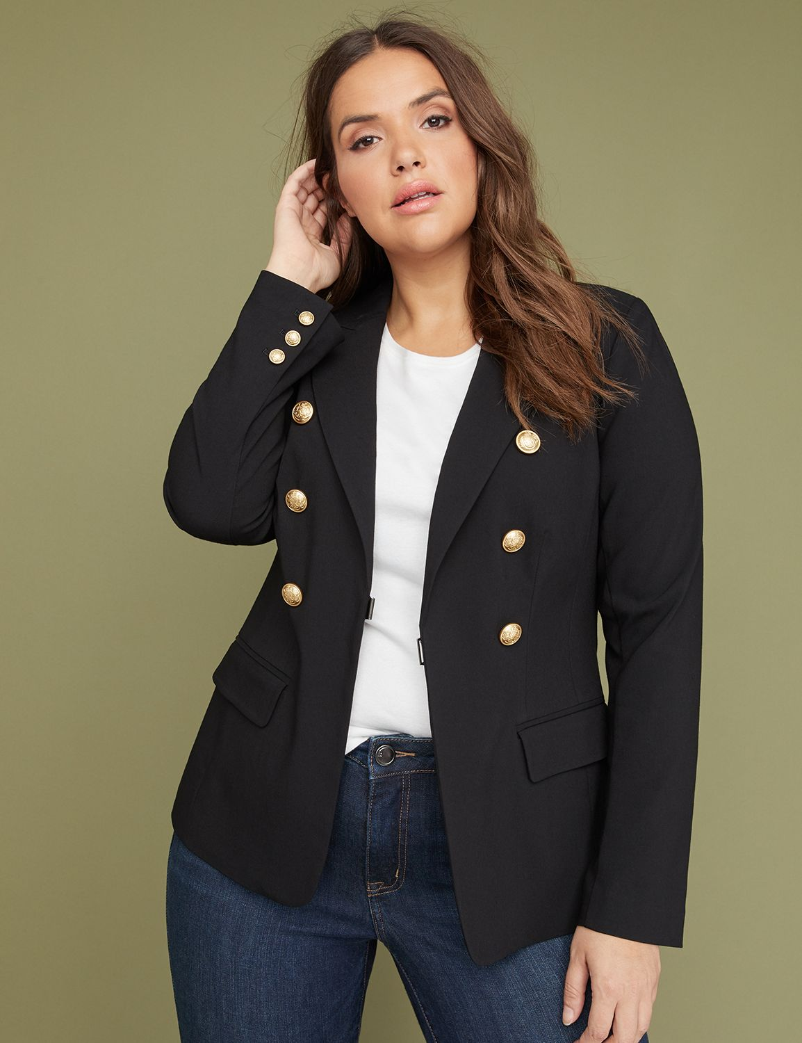 Petite Bryant Blazer - Double-Breasted Sexy Stretch