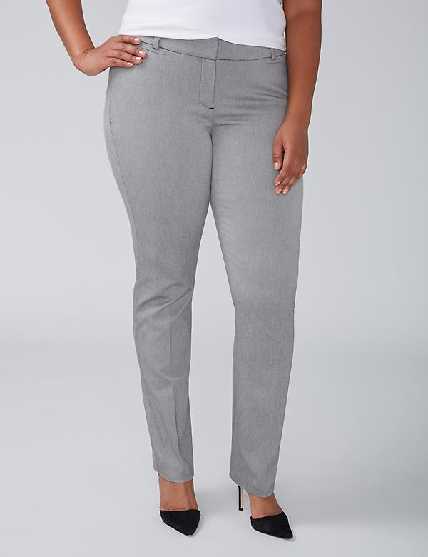 Allie Straight Leg Pant - Gray Pattern