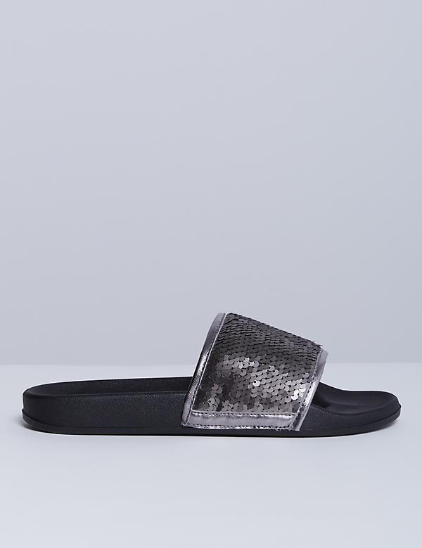 Sequin Slide Sandal