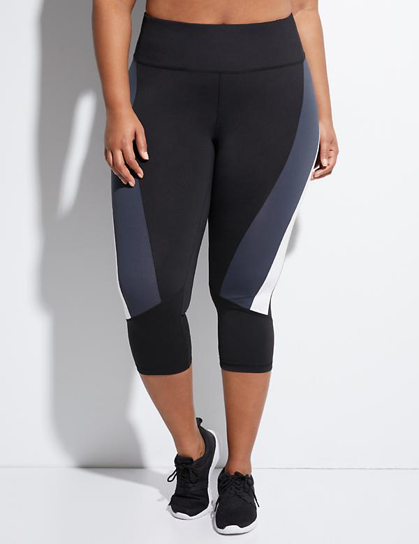 Sculpting Spliced Colorblock Active Capri Legging