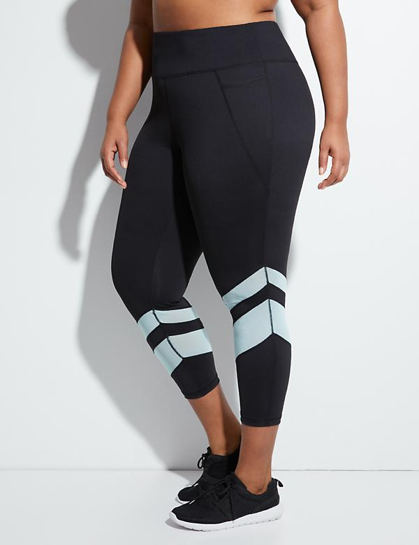 Sculpting Mesh Spliced Active 7/8 Legging