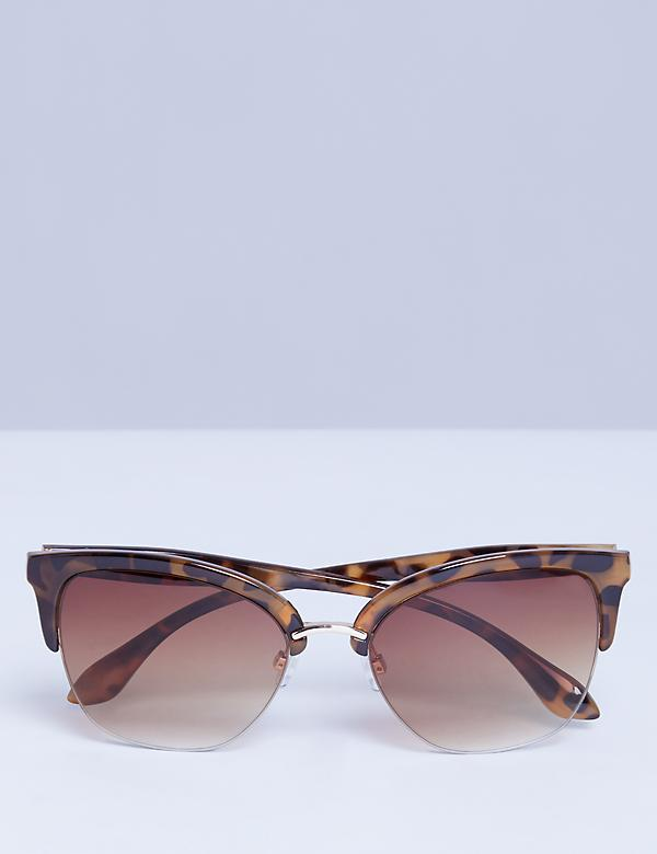 Half Frame Cateye Sunglasses