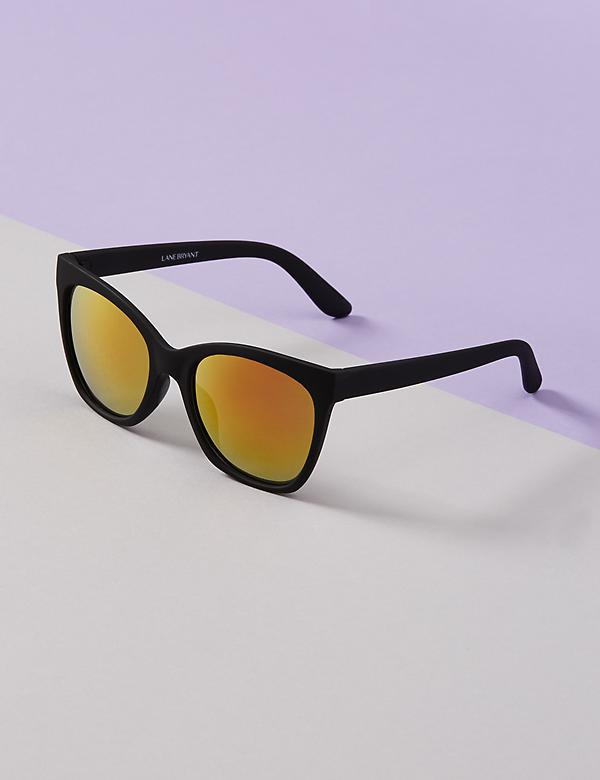 Matte Sunglasses with Mirrored Lenses