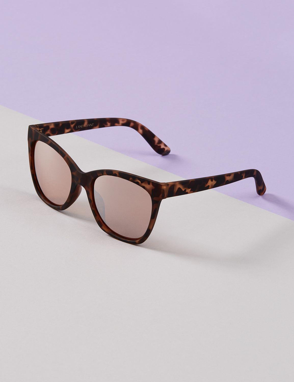 Unique Retro Vintage Style Sunglasses & Eyeglasses Lane Bryant Womens Matte Sunglasses With Mirrored Lenses ONESZ Animal Ombre $16.95 AT vintagedancer.com