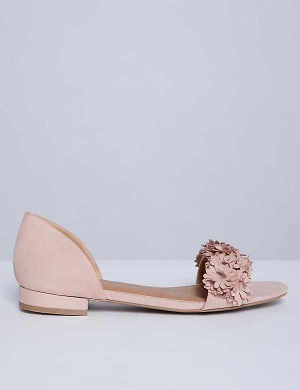 2-Piece Open-Toe Flower Flat
