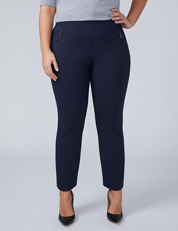 Allie Sexy Stretch Ankle Pant - Pull On with Zip Pockets