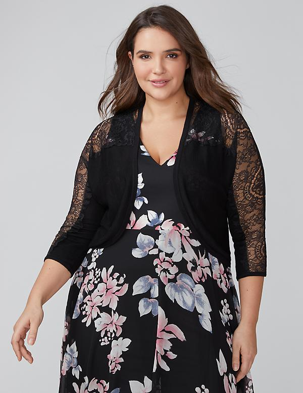 Lace-Sleeve Shrug