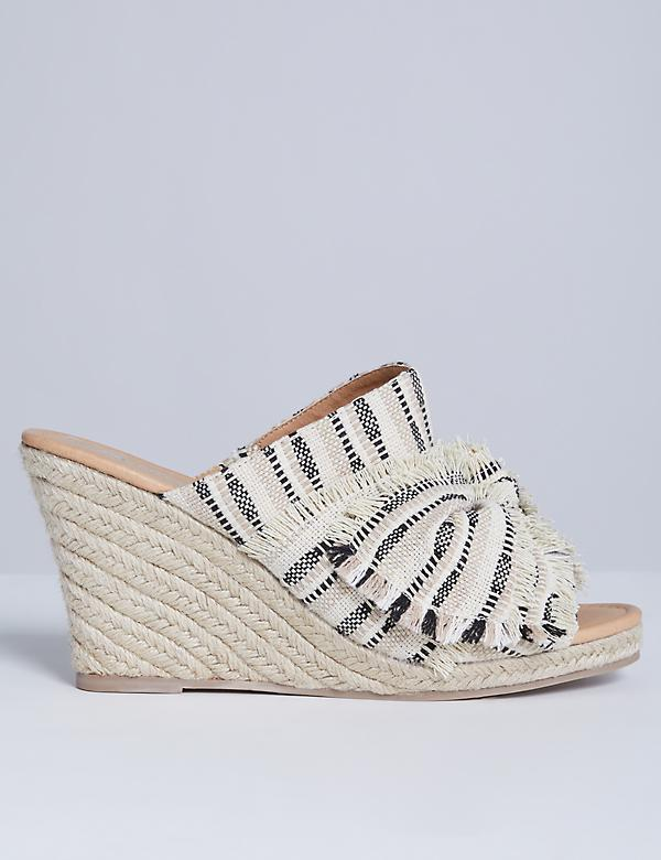 Slide Espadrille Wedge