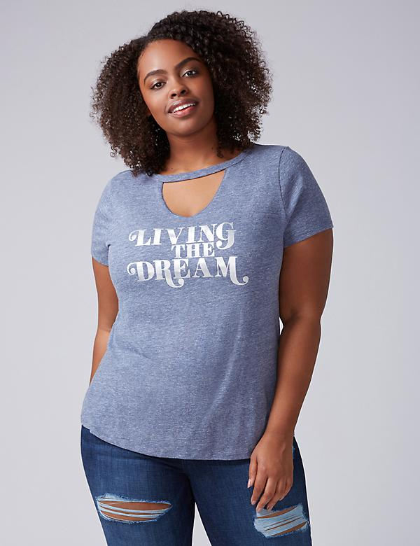 Living the Dream Graphic Choker Tee
