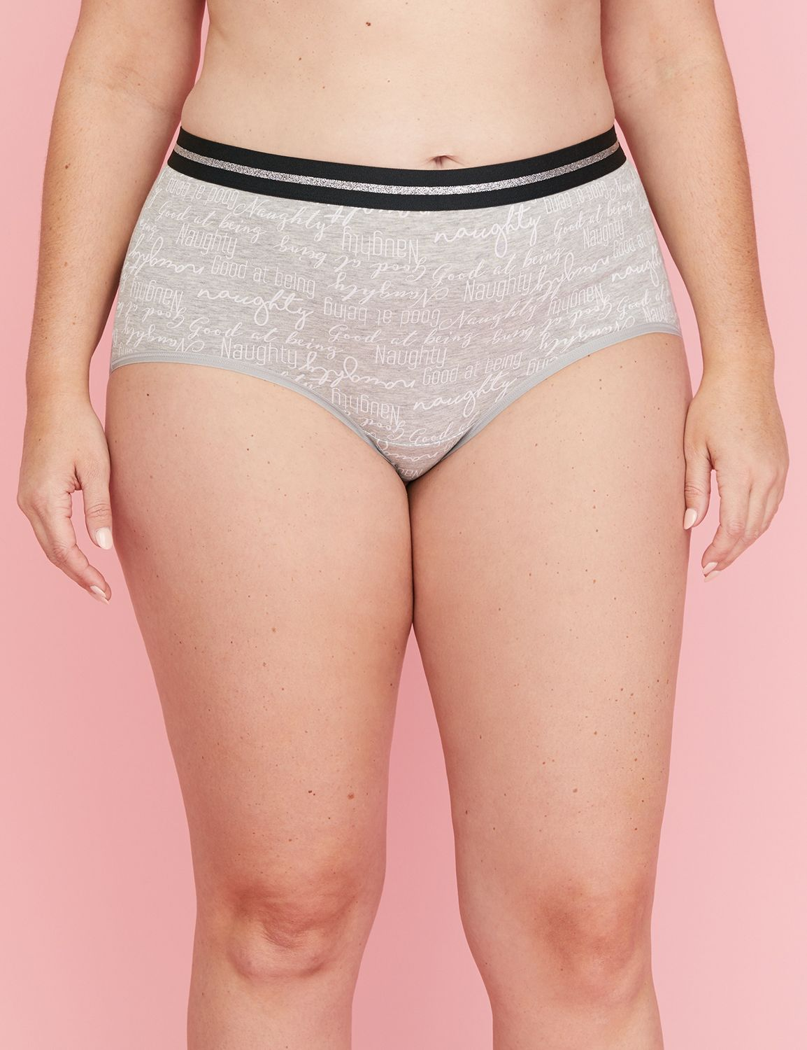 Available in Plus Size. A full brief in soft, stretchy cotton with a sporty elastic waistband. (We dropped Sassy from the name but didn't change a thing. Same fit. Same fabric. Same panty you love.) Classic fit that sits at the waist. Full-coverage. Item Number #348475, Imported Plus Size Panty