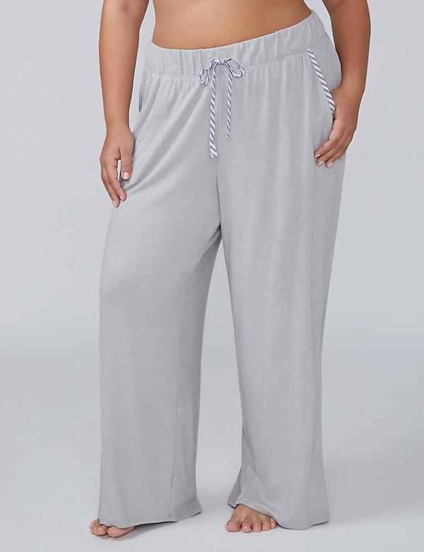 Sleep Pant with Woven Trim