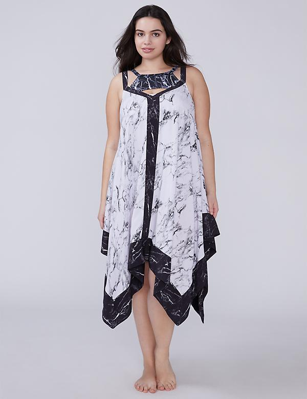 Marble Trapeze Cover-Up