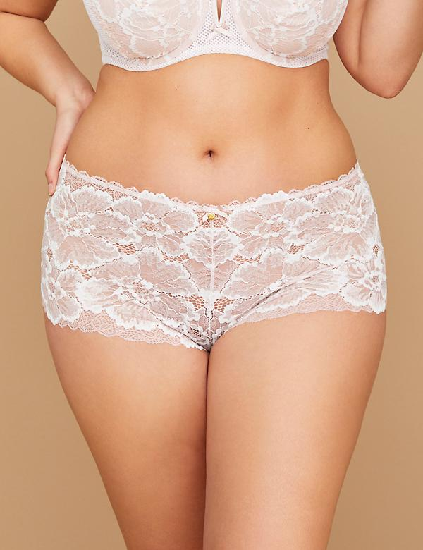 Fast Lane Two-Tone Lace Cheeky Panty