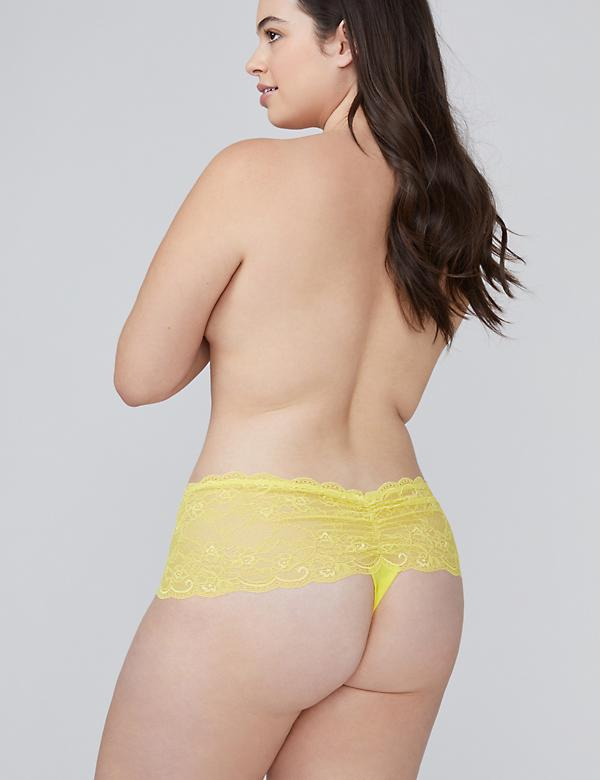 Fast Lane Lace Wide-Side Thong Panty
