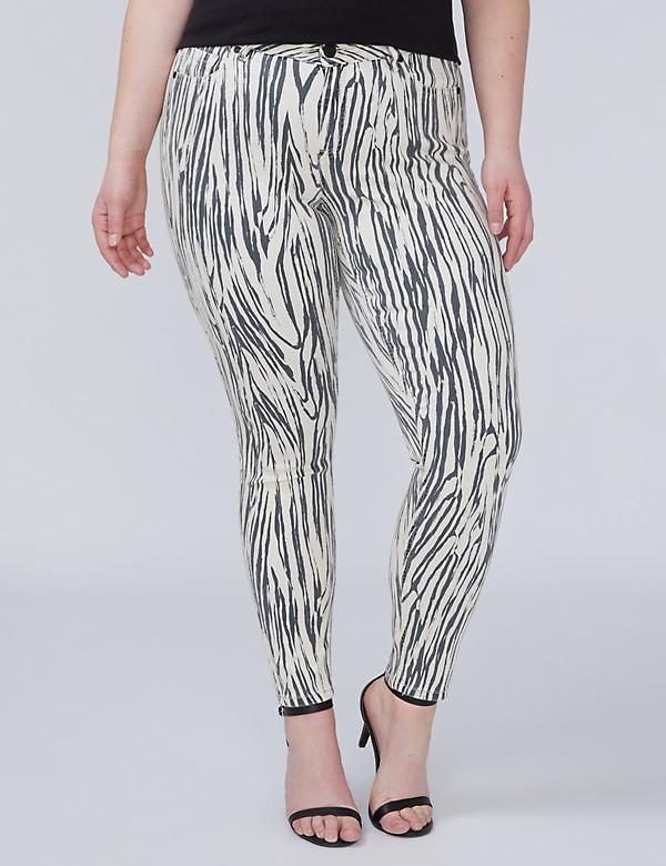 Super Stretch Skinny Jean with Power Pockets - Zebra Print