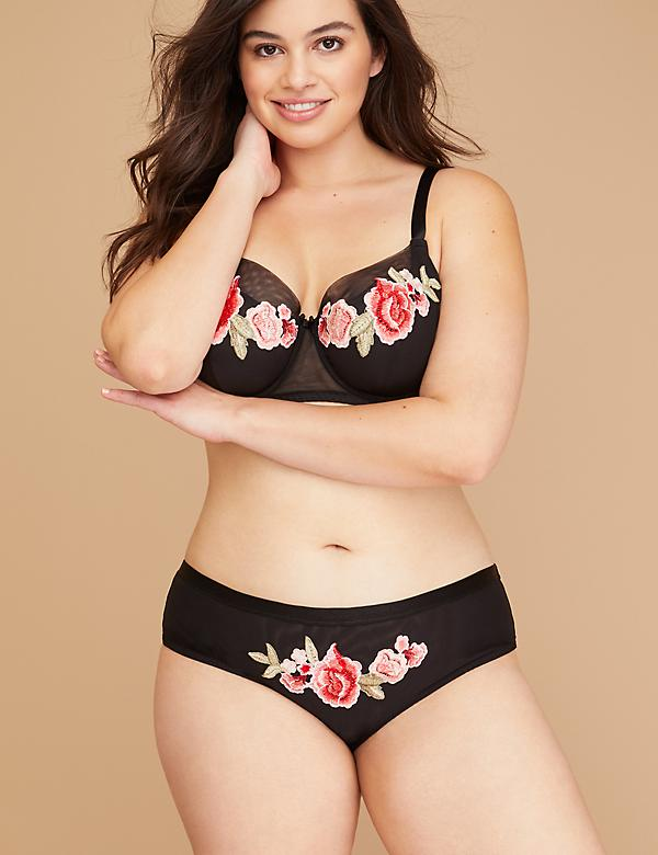 Floral Applique Cheeky Panty