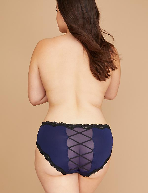 Criss-Cross Strappy Back Hipster Panty