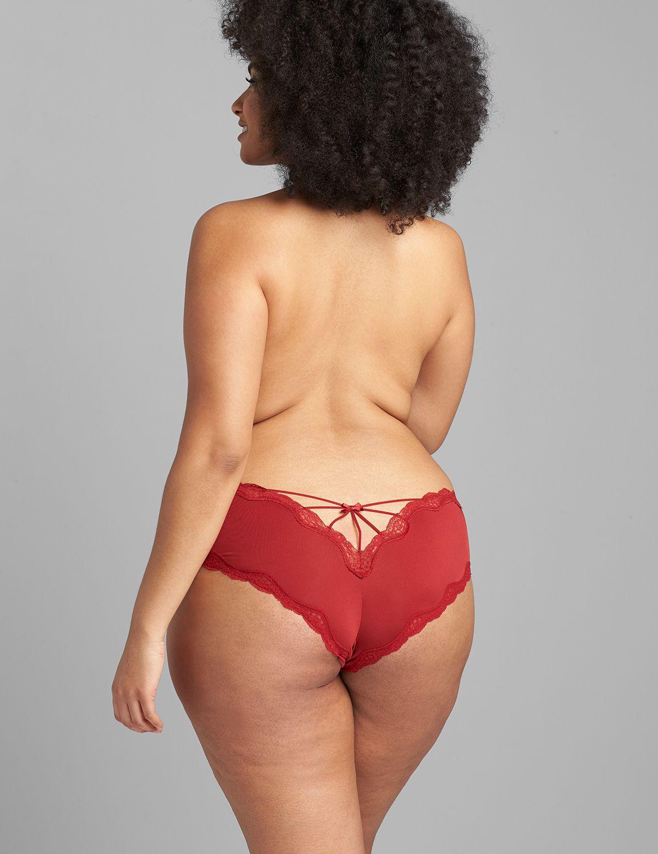 Lane Bryant Women's Strappy-Back Cheeky Panty 22/24 Red Dahlia