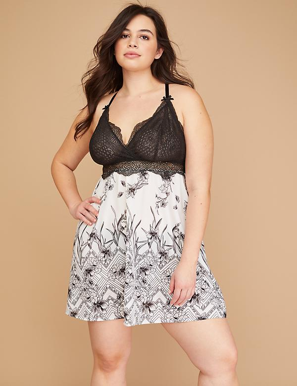 Floral & Lace No-Wire Chemise